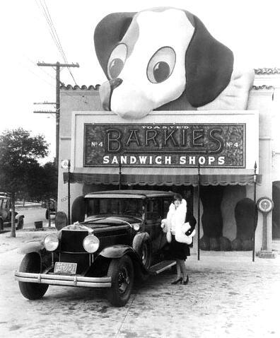 Barkies sandwich shop beverly boulevard los angeles 1927 for Antique shops in los angeles