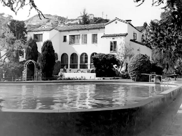 Rear of the Garden of Allah hotel and swimming pool