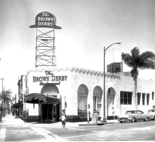 Brown Derby Beverly Hills 1950s