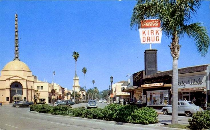 Westwood Blvd Westwood California Circa 1950s