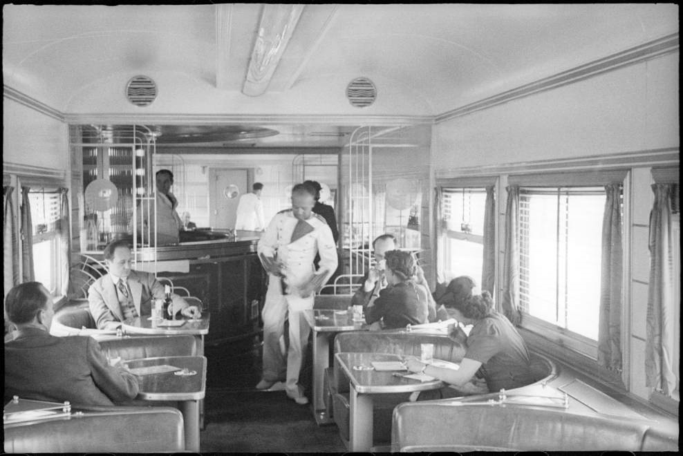 interior of southern pacific daylight train between los angeles and san francisco circa 1939. Black Bedroom Furniture Sets. Home Design Ideas